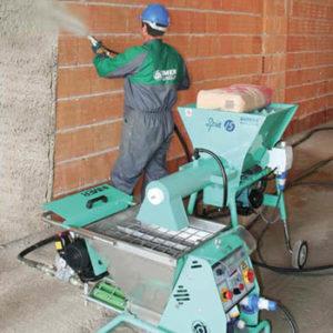 Maquinaria para mezclar, bombear y proyectar yesos, morteros tradicionales y morteros ensacados